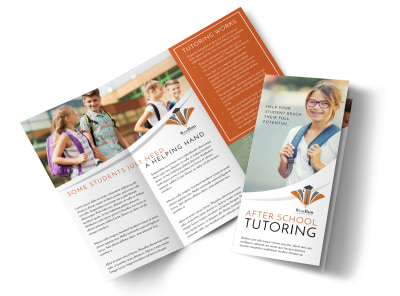 Tutoring After School Tri-Fold Brochure Template