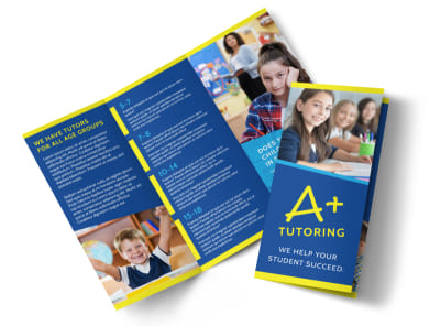 Awesome Tutoring Tri-Fold Brochure Template preview