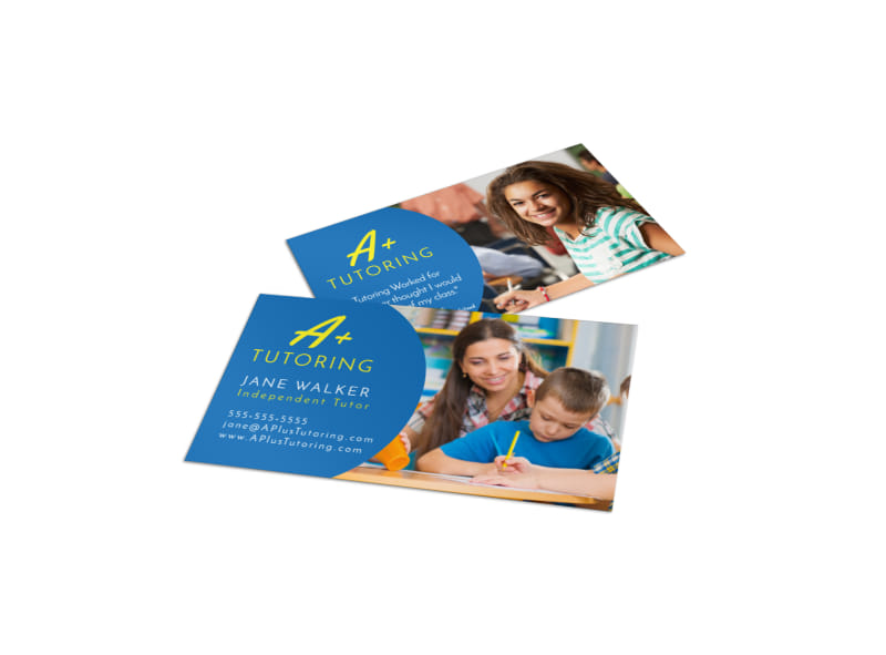 A+ Tutoring Business Card Template Preview 4