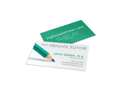 Tutoring Business Cards Template Preview