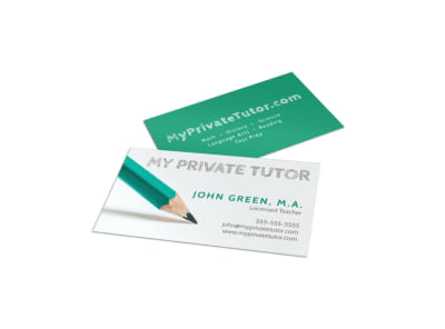 Private Tutor Business Card Template