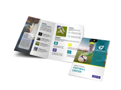 Soccer Football Bi-Fold Brochure Template preview
