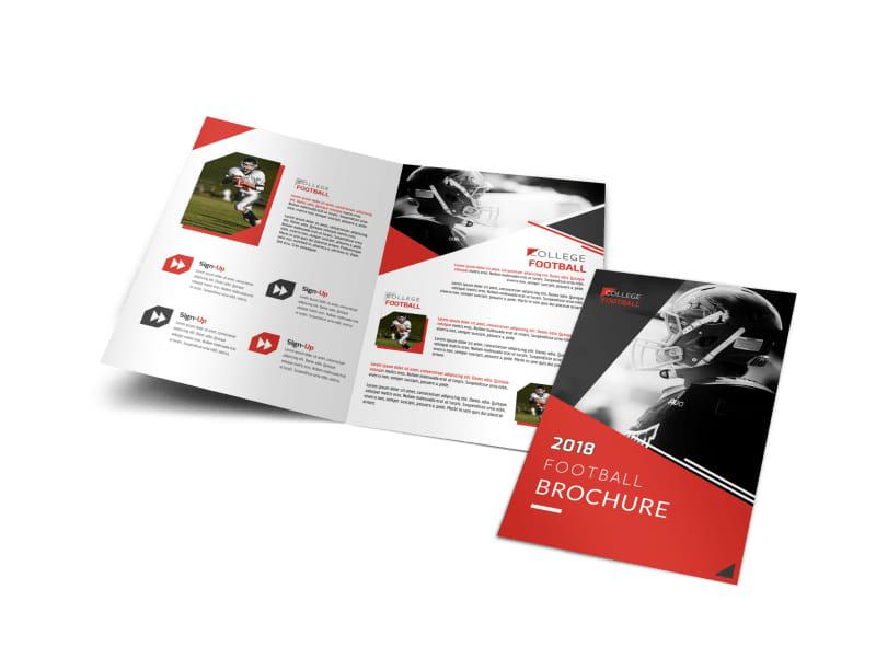 Football Program Bi-Fold Brochure Template