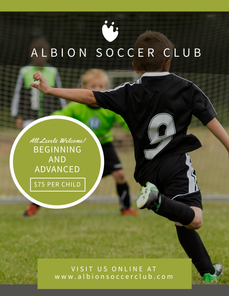 Soccer Registration Flyer Template Preview 2