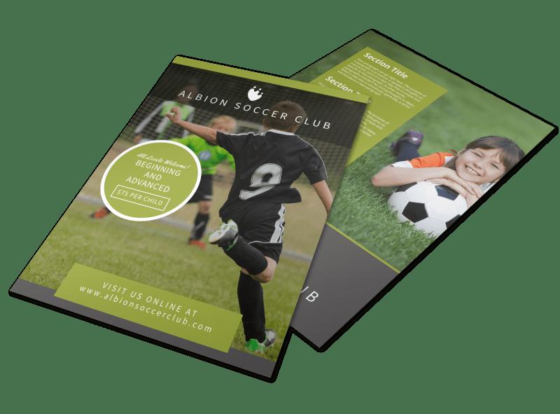 Soccer Registration Flyer Template Preview 1