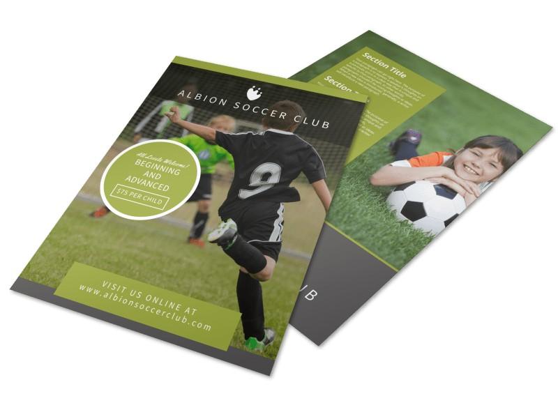 Soccer Registration Flyer Template Preview 4
