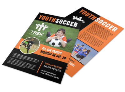 Cool Youth Soccer Flyer Template preview