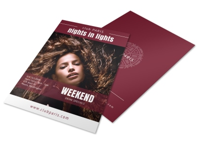 Weekend Nightclub Flyer Template preview
