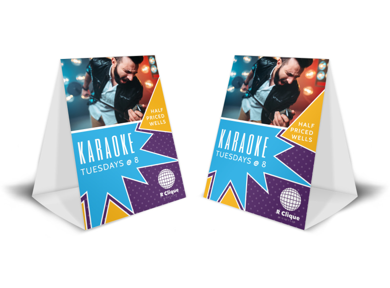 Awesome Karaoke Night Table Tent Template