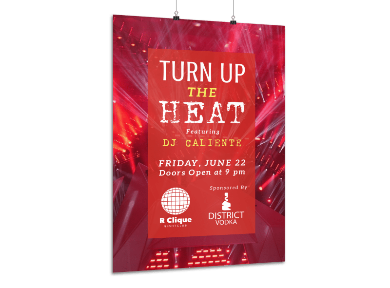 Nightclub Heat Poster Template Preview 1