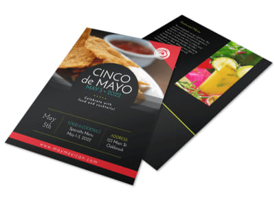 Cinco De Mayo Restaurant Menu Flyer Template preview