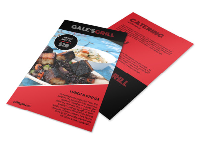 Restaurant Grill Flyer Template preview