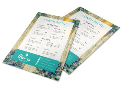 Lunch Restaurant Menu Template