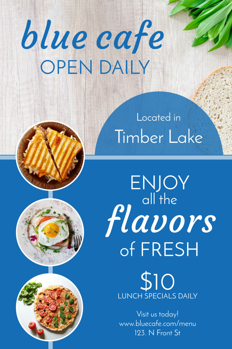 Open Daily Restaurant Poster Template Preview 2