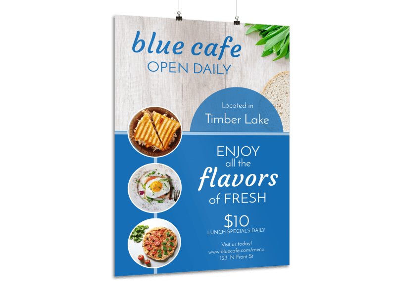 Open Daily Restaurant Poster Template Preview 1