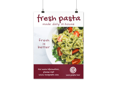 Fresh Pasta Poster Template preview