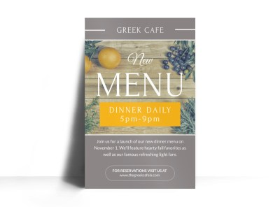 Restaurant New Menu Poster Template preview
