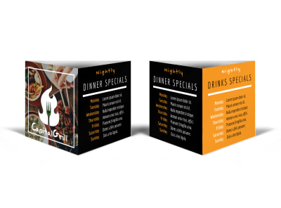 Restaurant Drink Special Table Tent Template preview