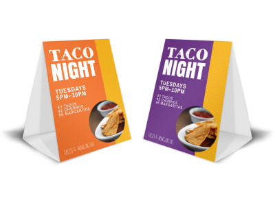Taco Night Table Tent Template preview