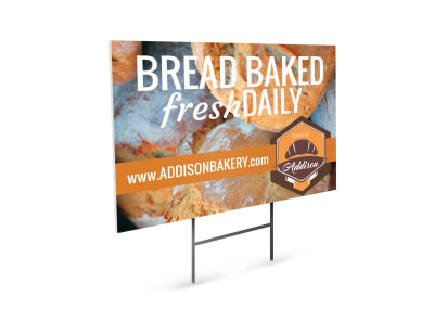 Fresh Bread Bakery Yard Sign Template preview