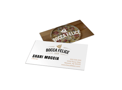 Food & Beverage Business Cards Template Preview
