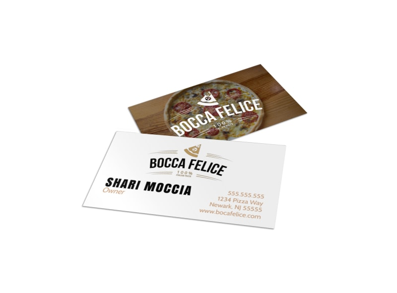 Restaurant Owner Business Card Template