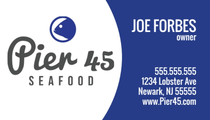 Seafood Owner Business Card Template Preview 2