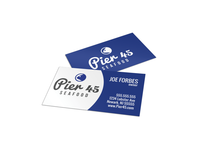 Seafood Owner Business Card Template Preview 1