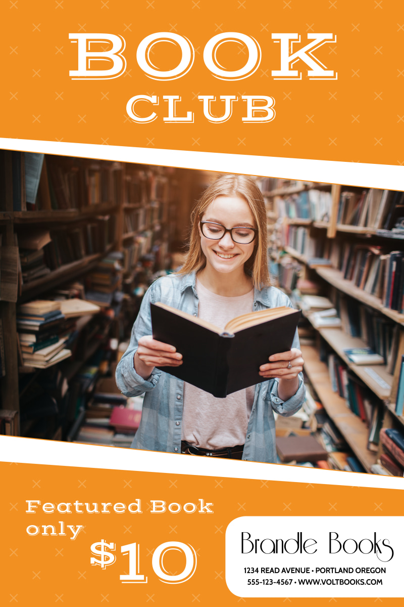 Book Club Poster Template Preview 2