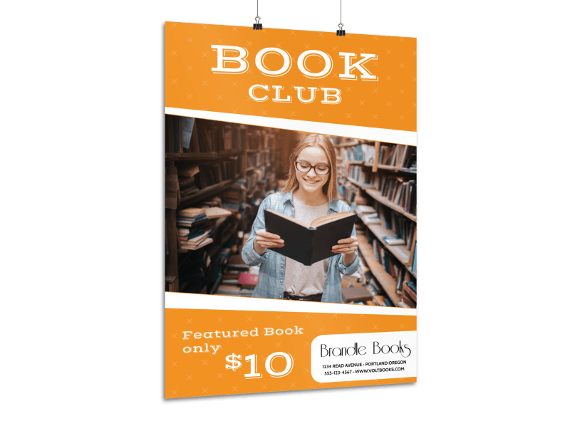 Book Club Poster Template Preview 1
