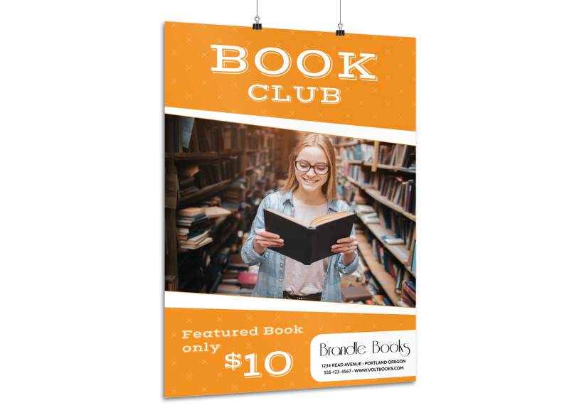 Book Club Poster Template Preview 3