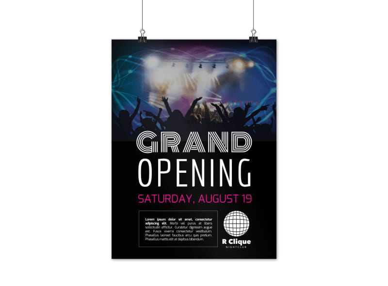 Club Grand Opening Poster Template
