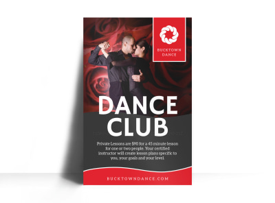 Dance Club Poster Template preview