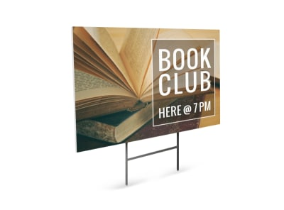 Book Club Yard Sign Template