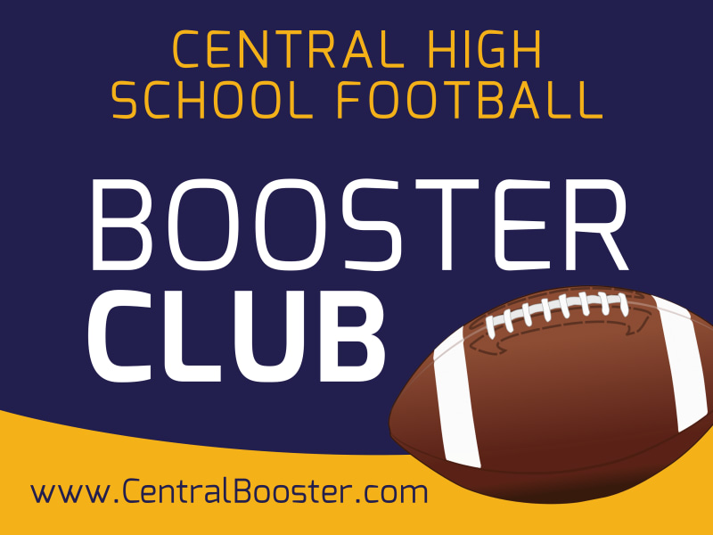 Booster Club Football Yard Sign Template Preview 2