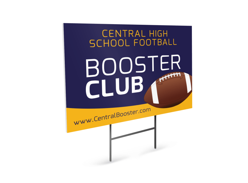 Booster Club Football Yard Sign Template Preview 1
