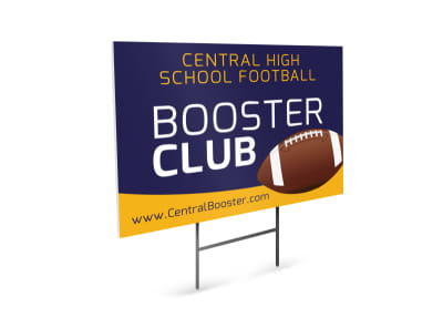 Booster Club Football Yard Sign Template