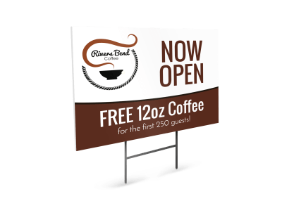 Food & Beverage Yard Signs Template Preview