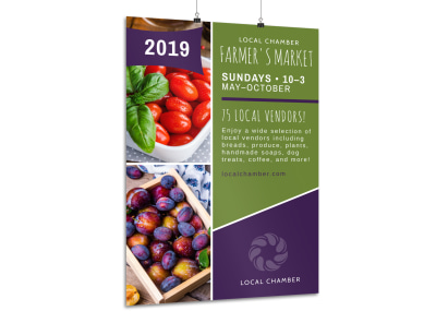 Local Farmers Market Poster Template preview