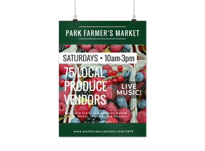 Fun Farmers Market Poster Template preview
