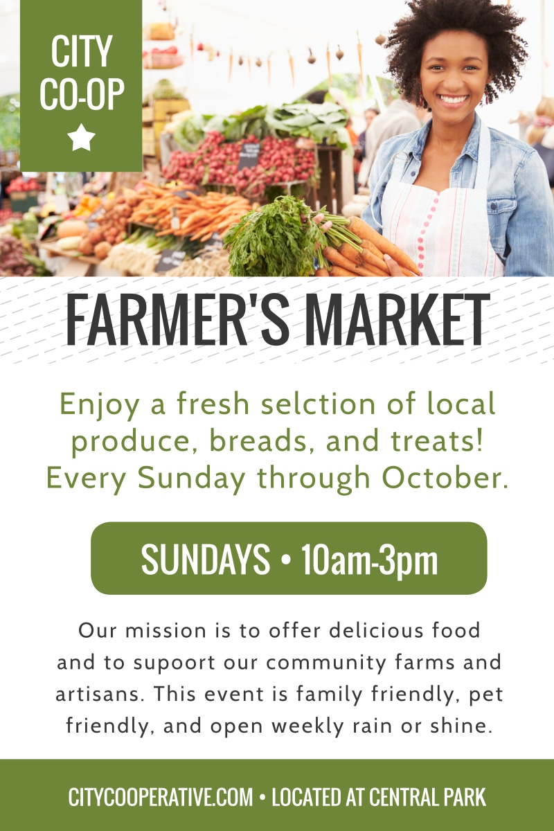 Farmers Market Co-op Poster Template Preview 2