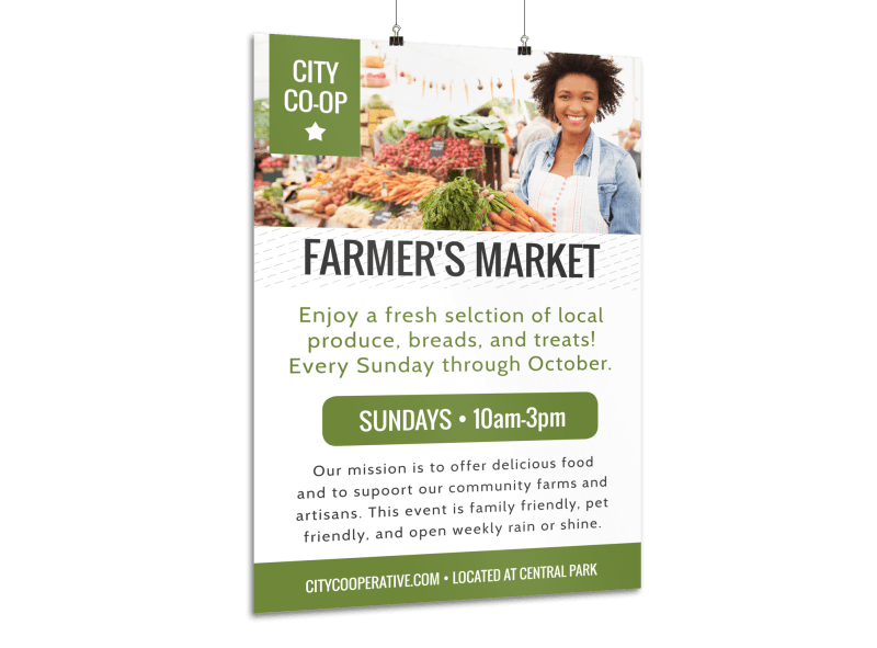 Farmers Market Co-op Poster Template Preview 1