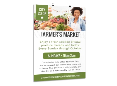 Farmers Market Co-op Poster Template preview