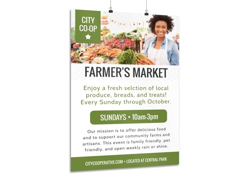 Farmers Market Co-op Poster Template