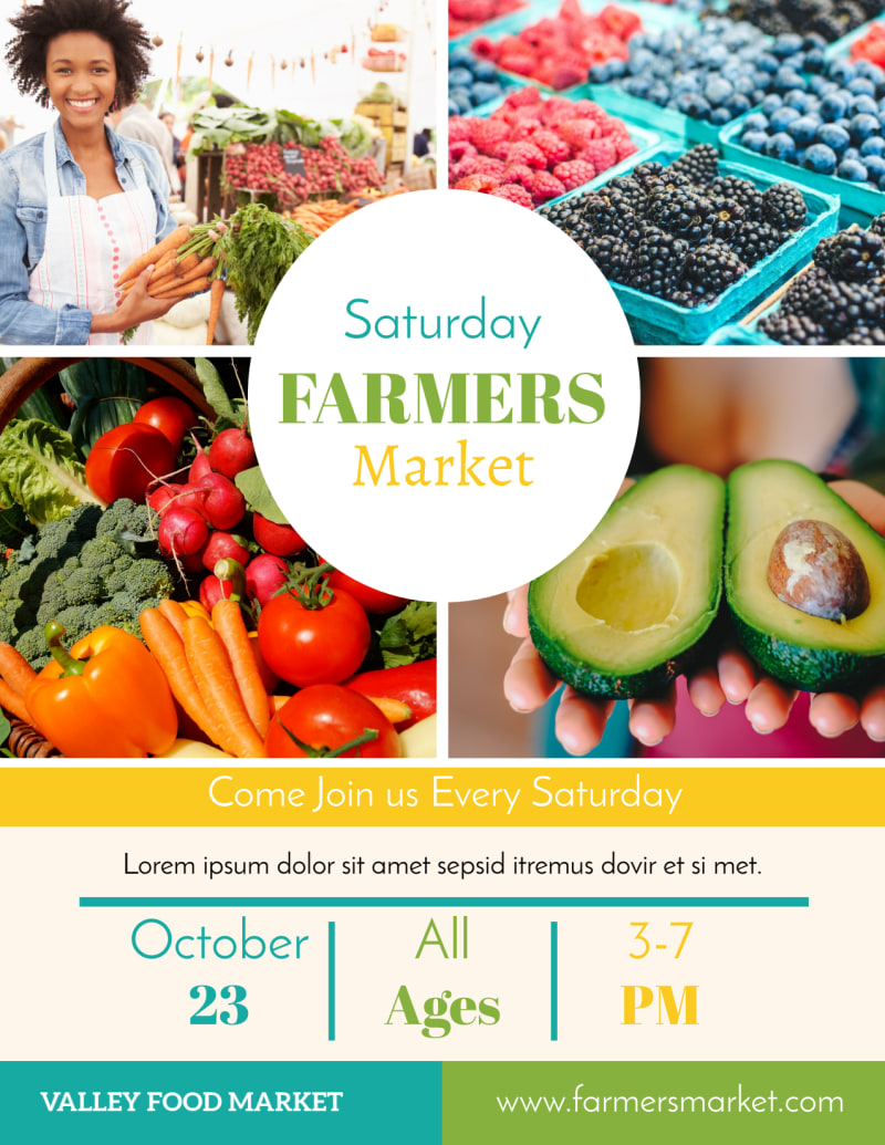 Colorful Farmers Market Flyer Template Preview 2