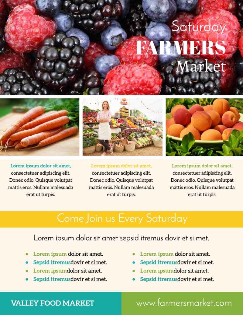 Colorful Farmers Market Flyer Template Preview 3