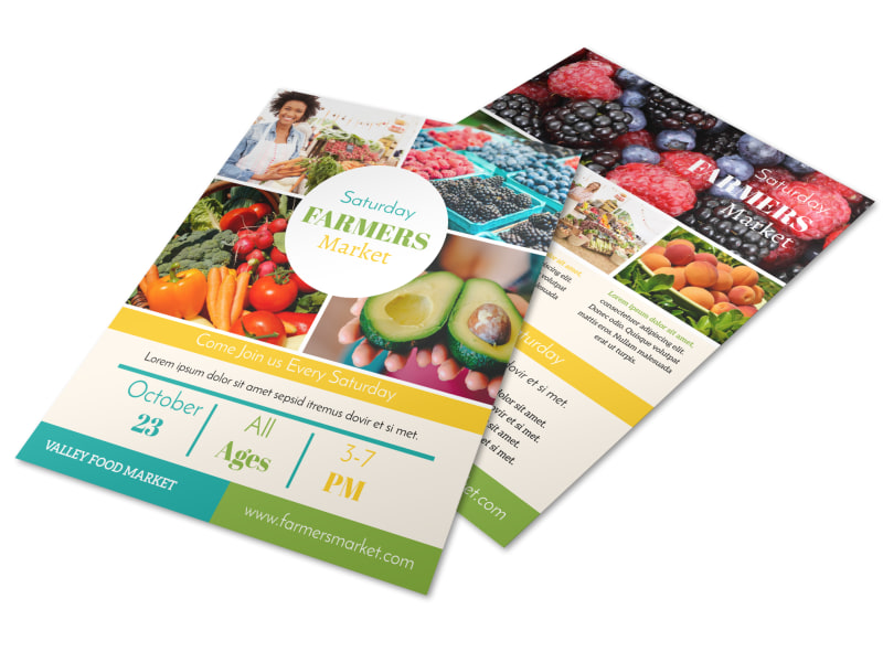 Colorful Farmers Market Flyer Template