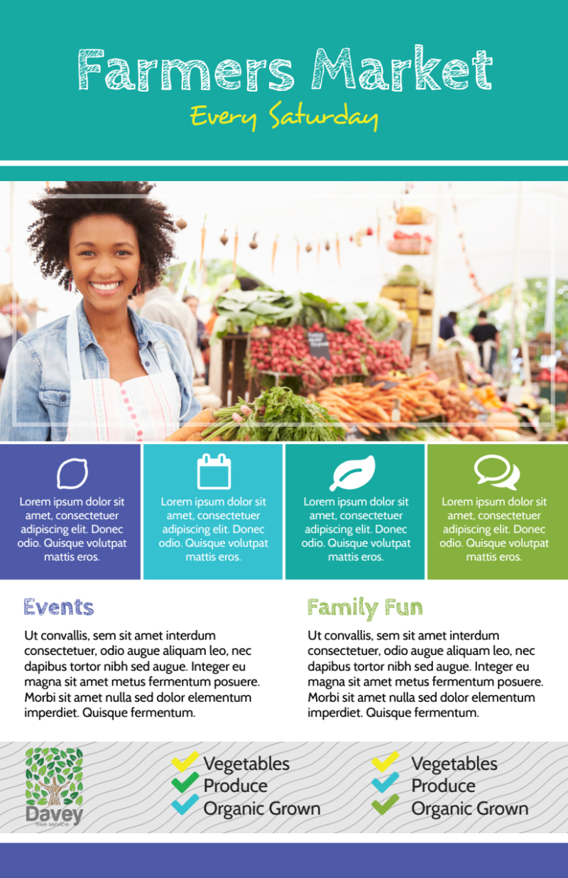 Beautiful Farmers Market Flyer Template Preview 2