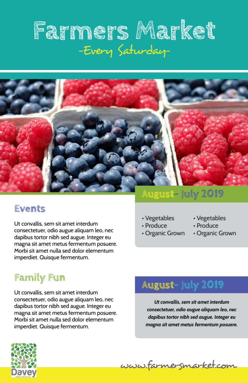 Beautiful Farmers Market Flyer Template Preview 3