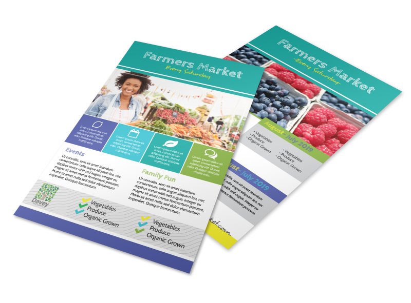 Beautiful Farmers Market Flyer Template Preview 1